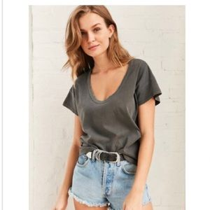 BDG Cancel Out Scoop neck T Shirt Washed Grey S